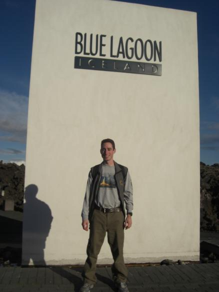 Man wearing Baron t-shirt in Iceland. Activating element opens larger version of image.