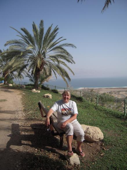 Woman wearing Baron t-shirt in Israel. Activating element opens larger version of image.