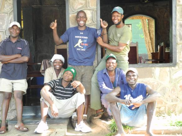 Man wearing Baron t-shirt in Zimbabwe.  Activating element opens larger version of image.